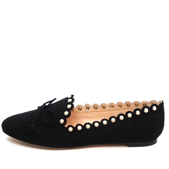 e8554d739fde kate spade Shoes - Kate Spade Pearl Scalloped Suede Flats